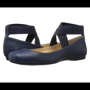 Jessica Simpson navy elastic ballet flats